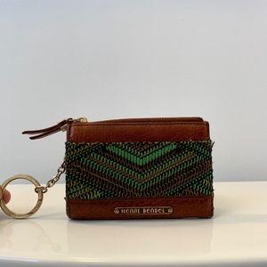 Vintage Henri Bendel Leather Coin Card Key Wallet